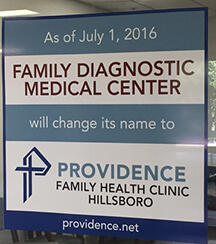 family diagnostic medical center sign