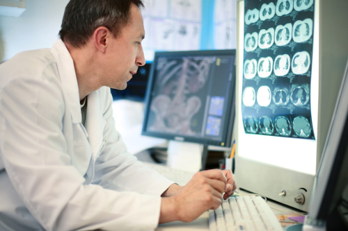 doctor reviewing xray